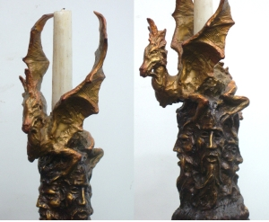 (12) Bronze Sculpture Wizards & drragon Candlestick in Etsy