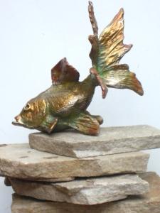 (14) Bronze sculptured Goldfish in ETSY