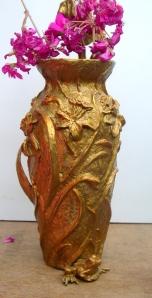 (2) Bronze April Showers, Daffodil Vase in Etsy