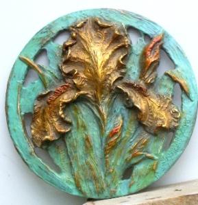 (33) Bronze Pierce Gold Iris Circle in ETSY