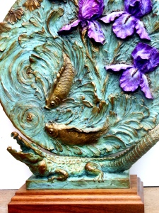 (41) Bronze Iris Relief, Alligator Sculpture in Etsy Art