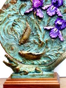(41) Bronze Iris Relief, Alligator Sculpture in Etsy Art
