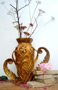 (42) Bronze Vase Dallodils & Fern in ETSY ART