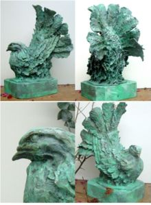 (58) Bronze Sculpture French Fantail Pigeon in Etsy