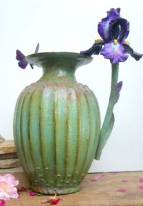 (59)Bronze Poppy Seed Vase, Iris Flower, Butterfly in Etsy