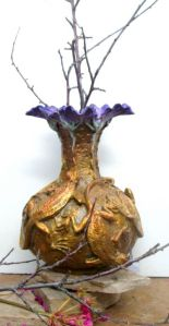 (61)Bronze Fire Lizard Vase of Lizards & Flower Mouth in Etsy
