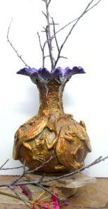(61)Bronze Fire Lizard Vase of Lizards & Flower Mouth in Etsy