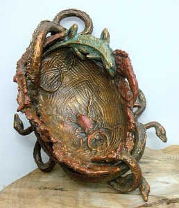 (62) BRone Vessel Snakes, Lizard, Stag Horned Beetle in Etsy