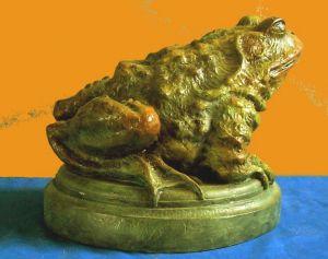 (64) Bronze Sculpture Garden Toad in Etsy