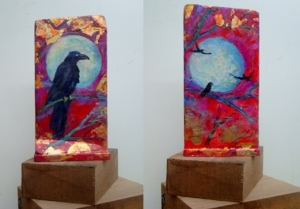 # c-2 mystic crow painting front & back